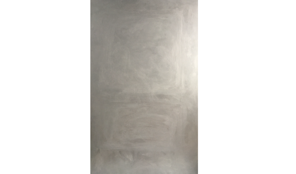 CHROMIUM NO. 7 , WINTER 2017, CHROME PIGMENT ON LINEN, 79 X 51 INCHES (200.66 X 129.54 CM)