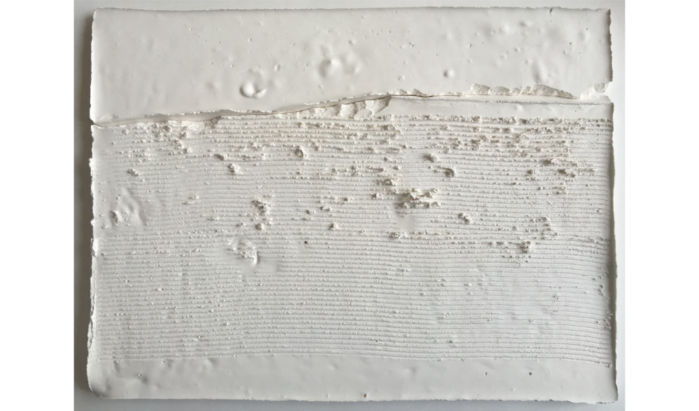 STUDY IN PLASTER NO. 1 , FALL 2015, PLASTER ON BOARD, 9 X 12 INCHES (22.86 X 30.48 CM)