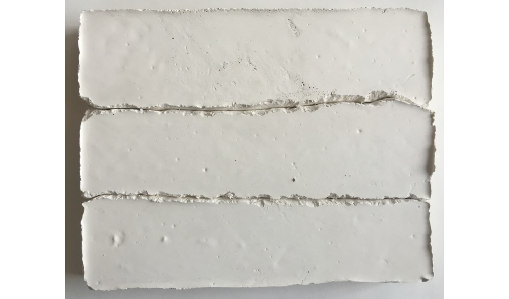 STUDY IN PLASTER NO. 3 , FALL 2015, PLASTER ON BOARD, 5 X 7 INCHES (12.7 X 17.78 CM)