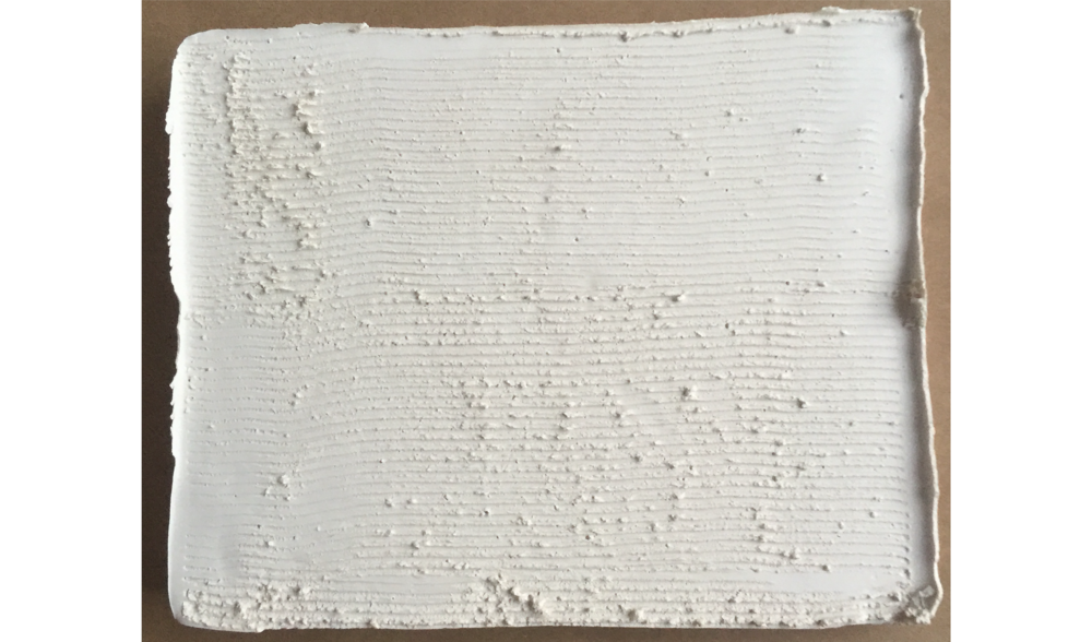 STUDY IN PLASTER NO. 2 , FALL 2015, PLASTER ON BOARD, 5 X 7 INCHES (12.7 X 17.78 CM)