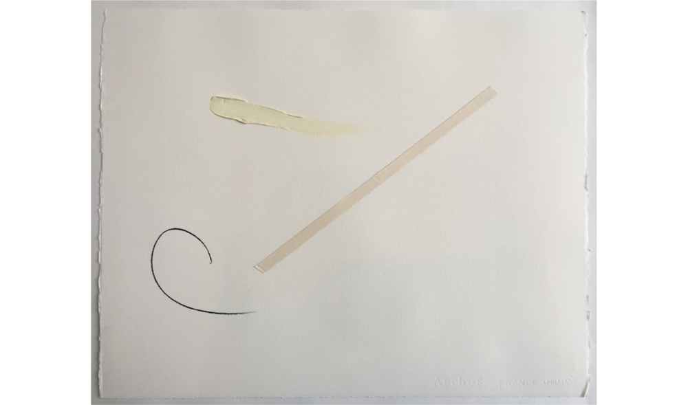 UNTITLED DRAWING NO. 5 , WINTER 2015, OIL, GRAPHITE AND JAPANESE TAPE ON ARCHES RIVES BFK, 20 X 16 INCHES (50.8 X 40.64 CM)