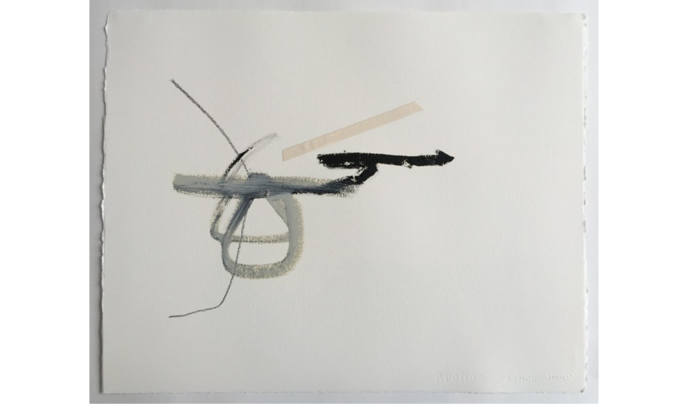 UNTITLED DRAWING NO. 12 , WINTER 2015, OIL, GRAPHITE AND JAPANESE TAPE ON ARCHES RIVES BFK, 20 X 16 INCHES (50.8 X 40.64 CM)