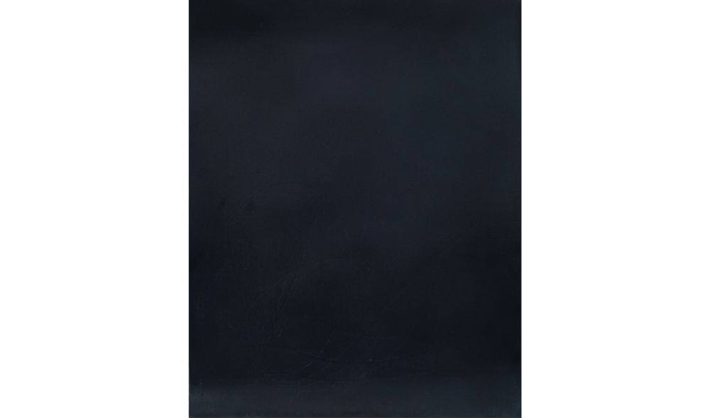 BLACK DRAWING (STUDY FOR TAR PAINTING) NO. 3,  SUMMER 2015, OIL ON ARCHES RIVES BFK, 12 X 9 INCHES (30.48 X 22.86 CM)