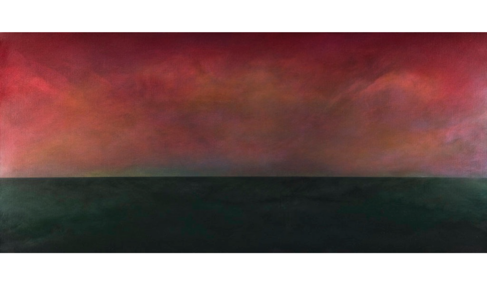 MANTOLOKING , SPRING 2010, OIL ON LINEN, 48 X 72 INCHES (121.92 X 182.88 CM)