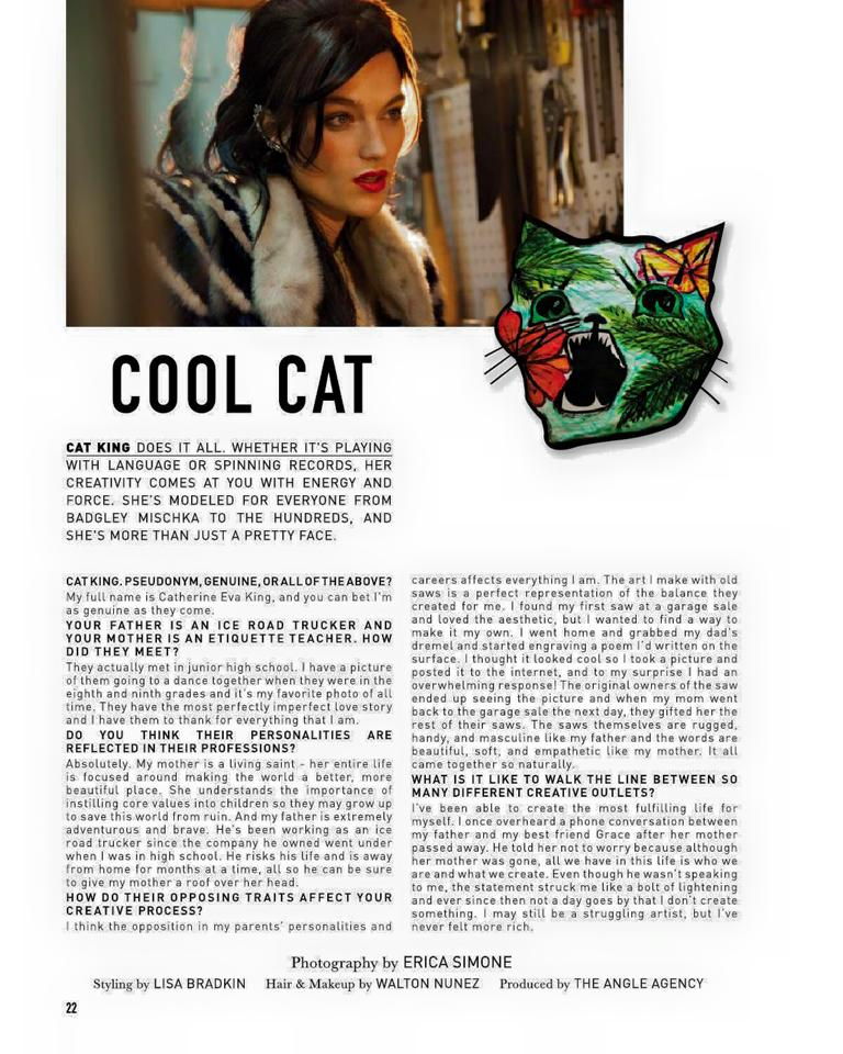 FEATURE AND INTERVIEW IN THE ANGLE MAGAZINE ISSUE NUMBER 2