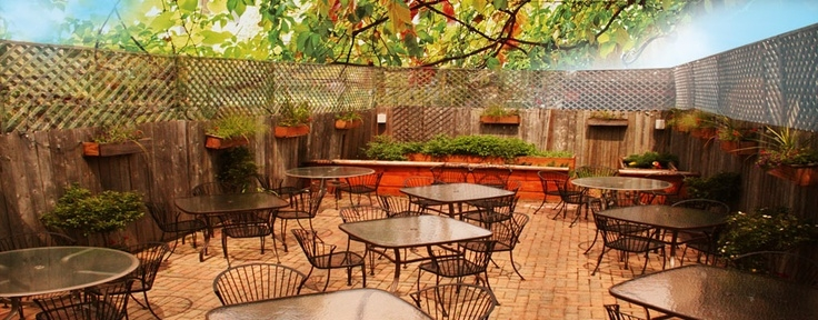 The patio at  a tavola , picture courtesy of  a tavola