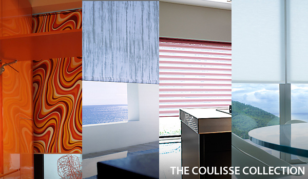 The Coulisse Collection of window shading products from dePasquale Design