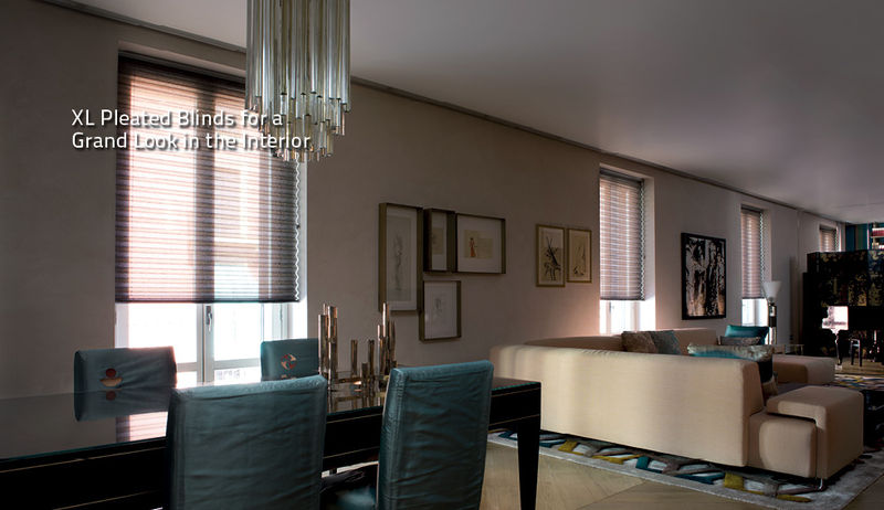 XL Pleated Blinds from dePasquale Design
