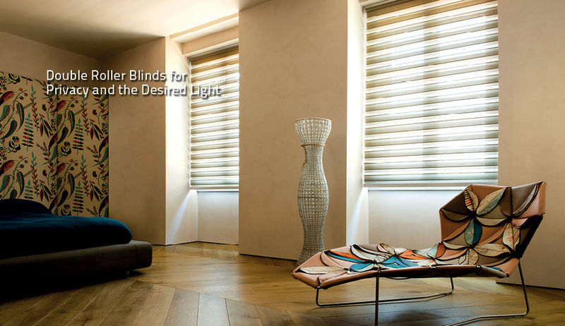 Double Roller Blinds from dePasquale Design