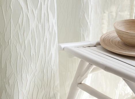 Elegant Modern White Drapery custom made by dePasquale Design