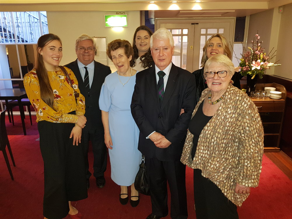 L-R: (back row) Dr Kerry Houston  (DIT Conservatory of Music and Drama, member of the Ina Boyle Development Committee (IBDC) , Emma O'Keeffe (PhD researcher, IBDC), Dearbhla Collins (piano).  (front row)  Nad è ge Rochat (cello), Dr Ita Beausang (musicologist, author, IBDC), Kenneth Baird (Director of the European Opera Centre Liverpool, IBDC)  , Katie Rowan (Chair IBDC).