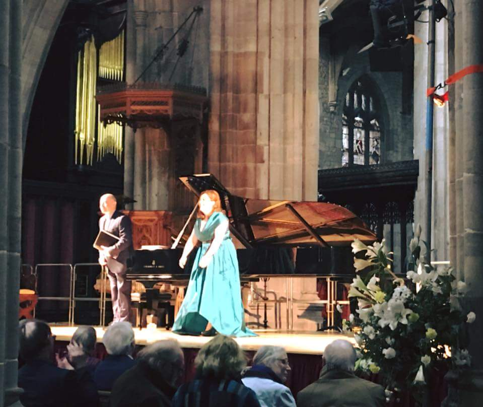 Ailish Tynan (soprano) and Iain Burnside (piano) performing some of Boyle's songs at the opening concert