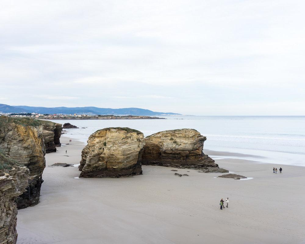 Playa de las Catedrales marea baja