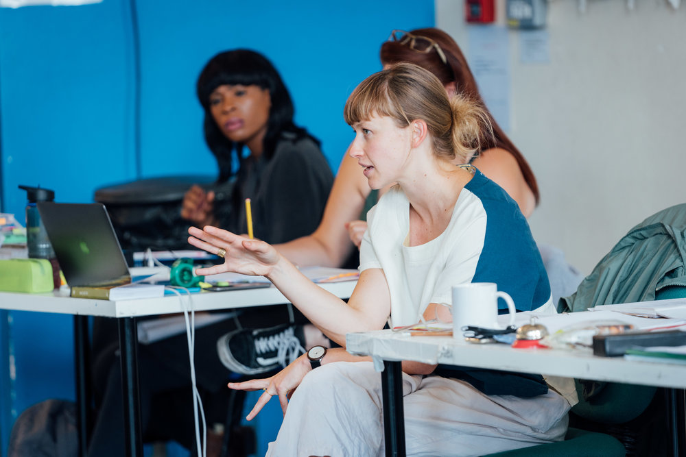 Natasha in rehearsals for  Macbeth  at The Garrick Theatre in London (Photo by Helen Murray)