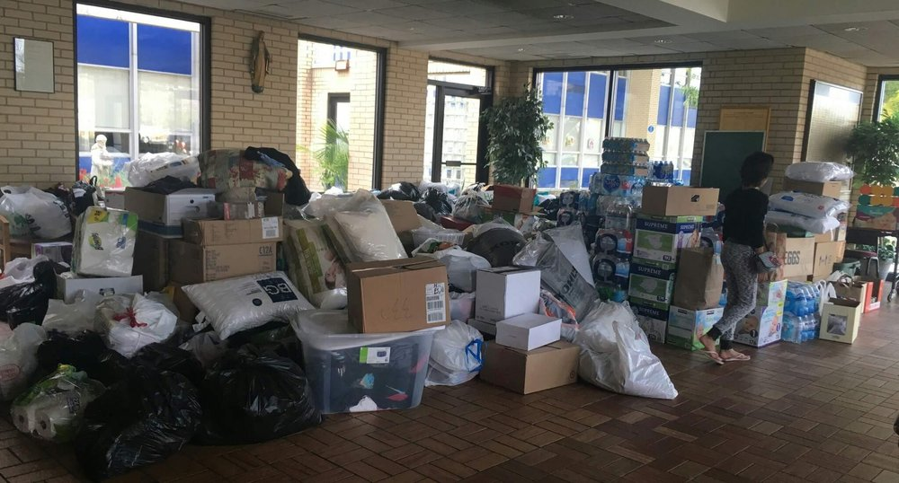 Donations for flood victims in Houston