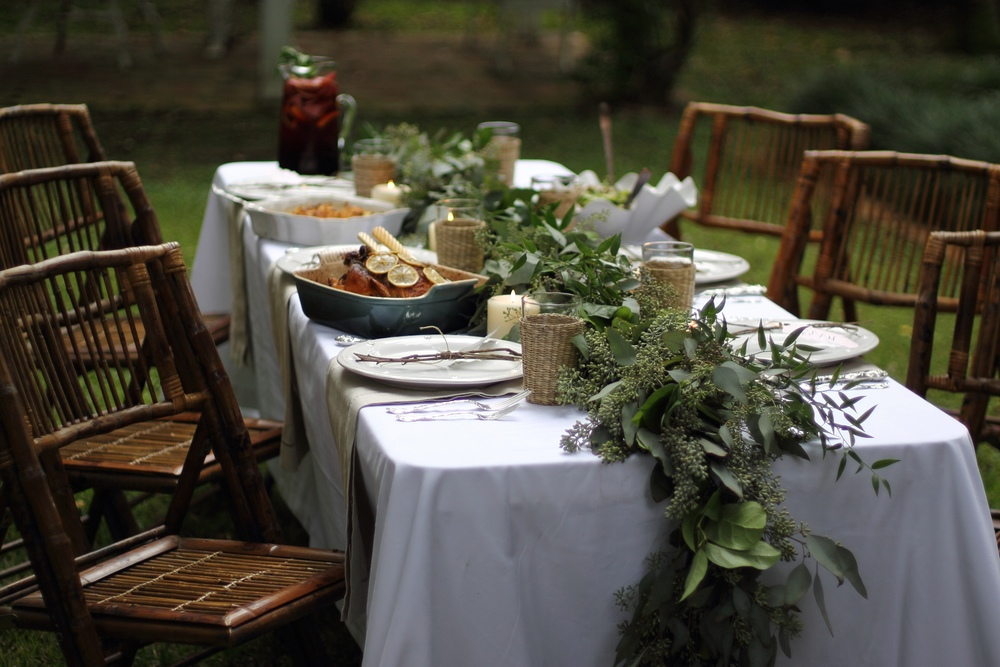 Eucalyptus Table Runner // Autumn Garden Dinner Party