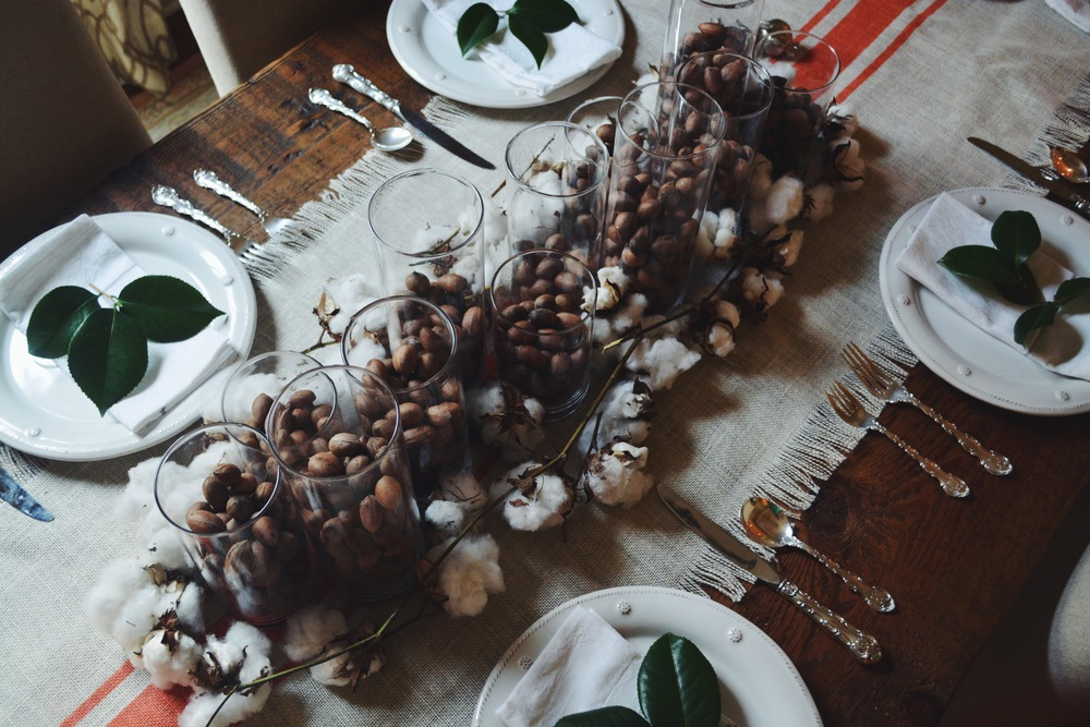 November Tablescape // Pecans + Cotton
