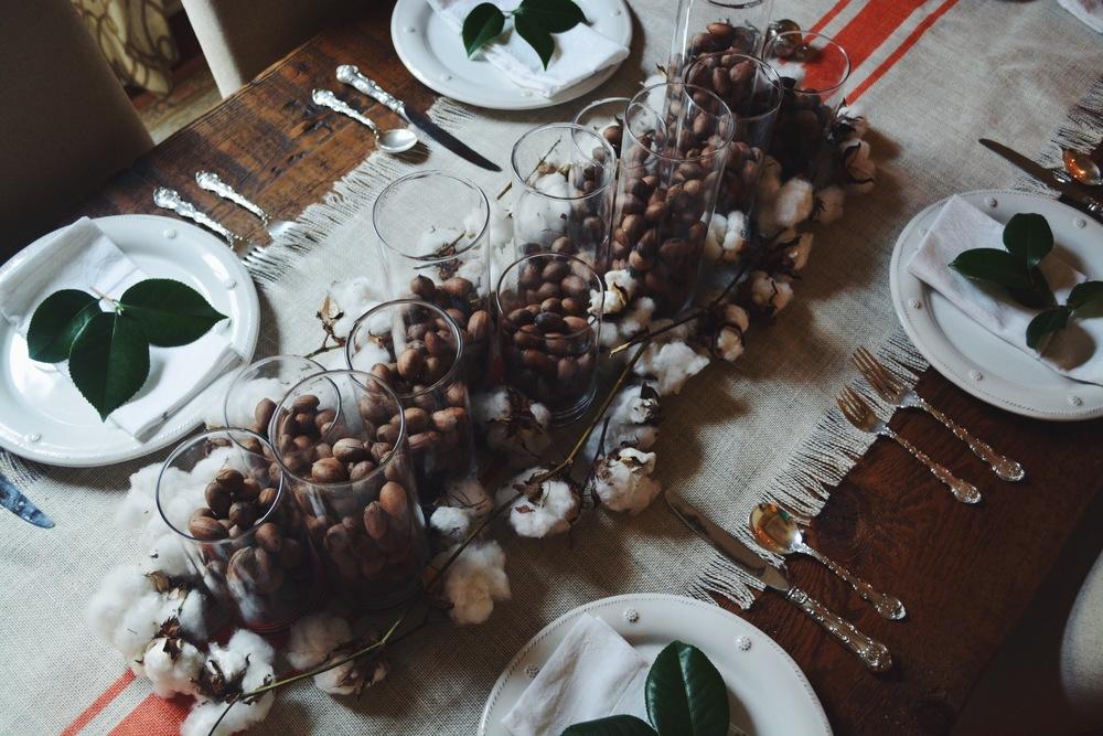 November Tablescape // Pecans + Cotton