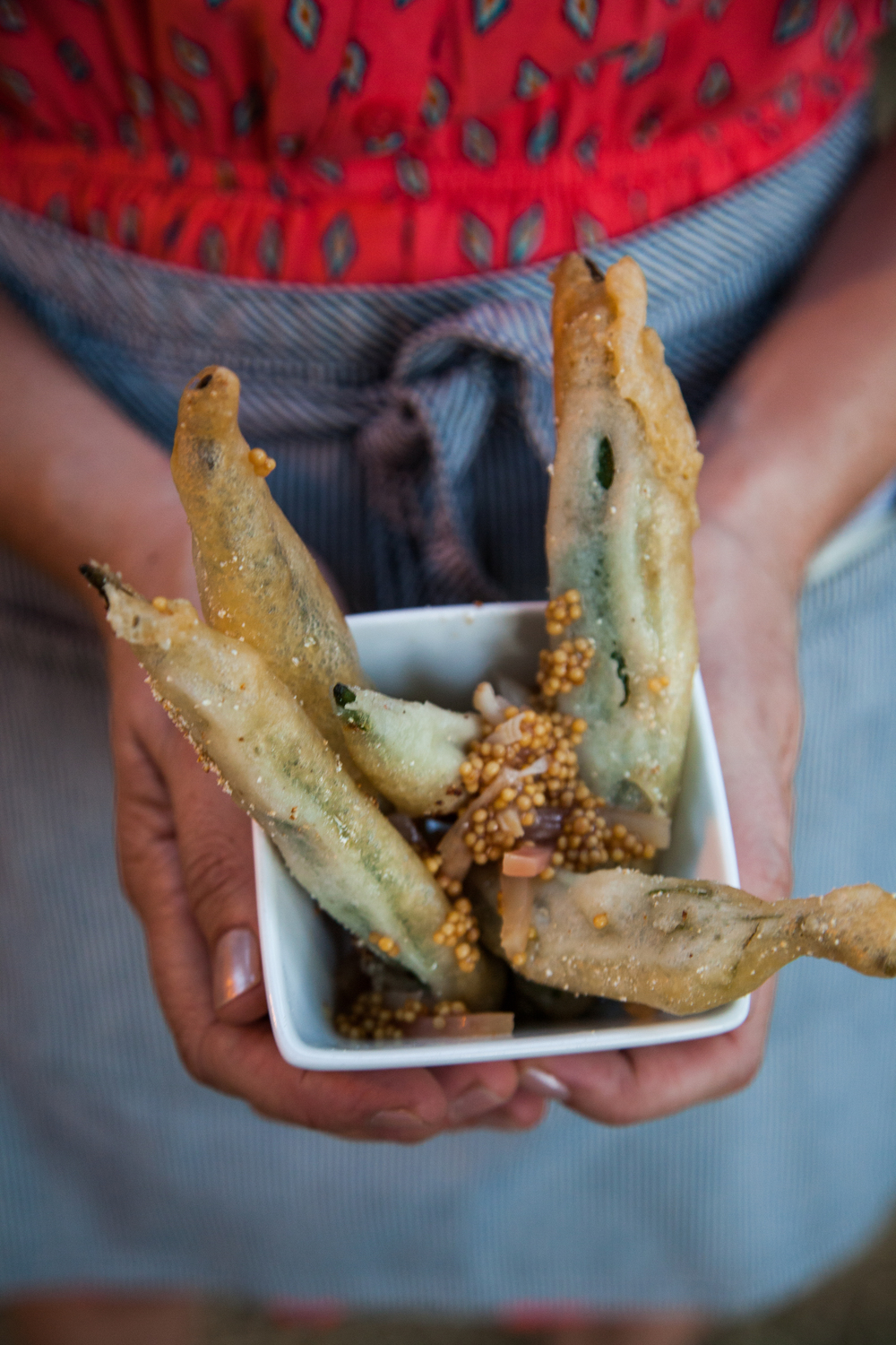 vodka tempura okra