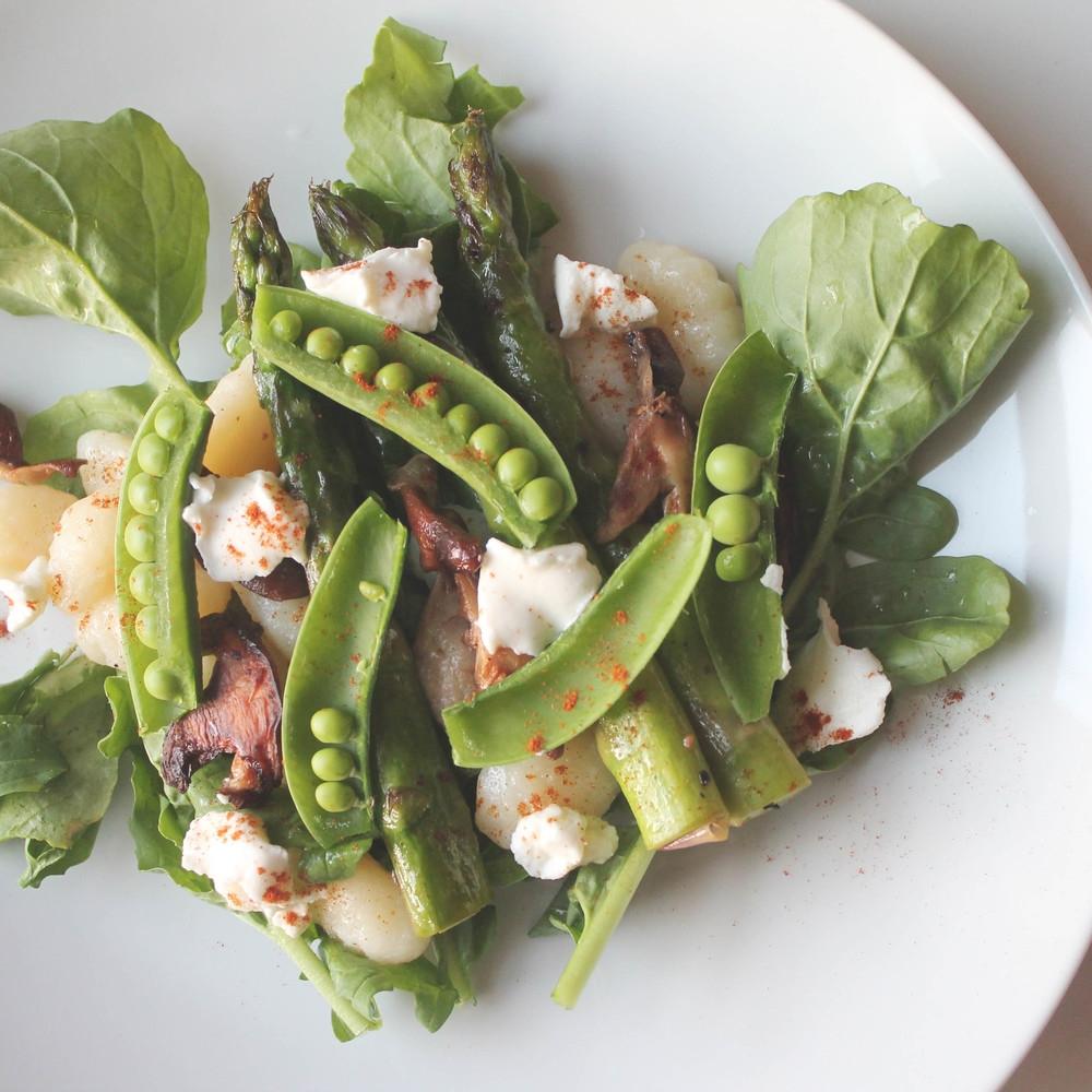 spring salad gnocchi