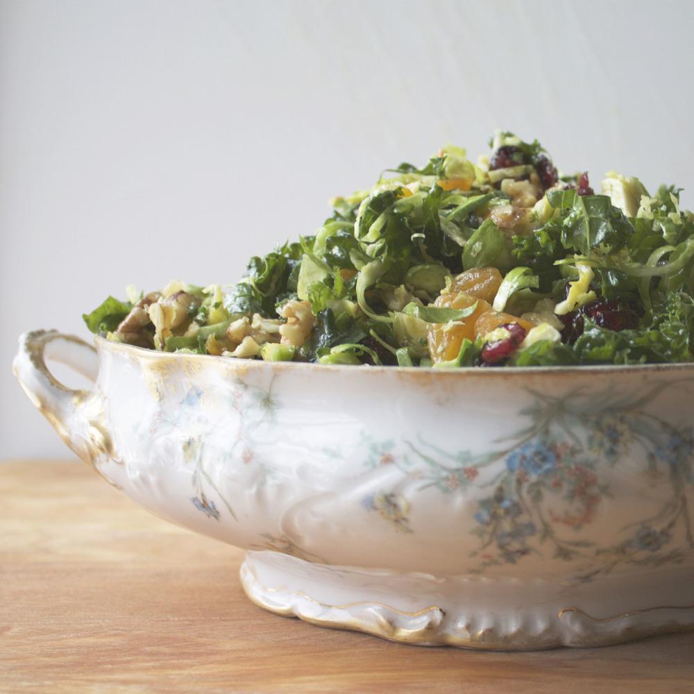 kale + brussel sprout salad