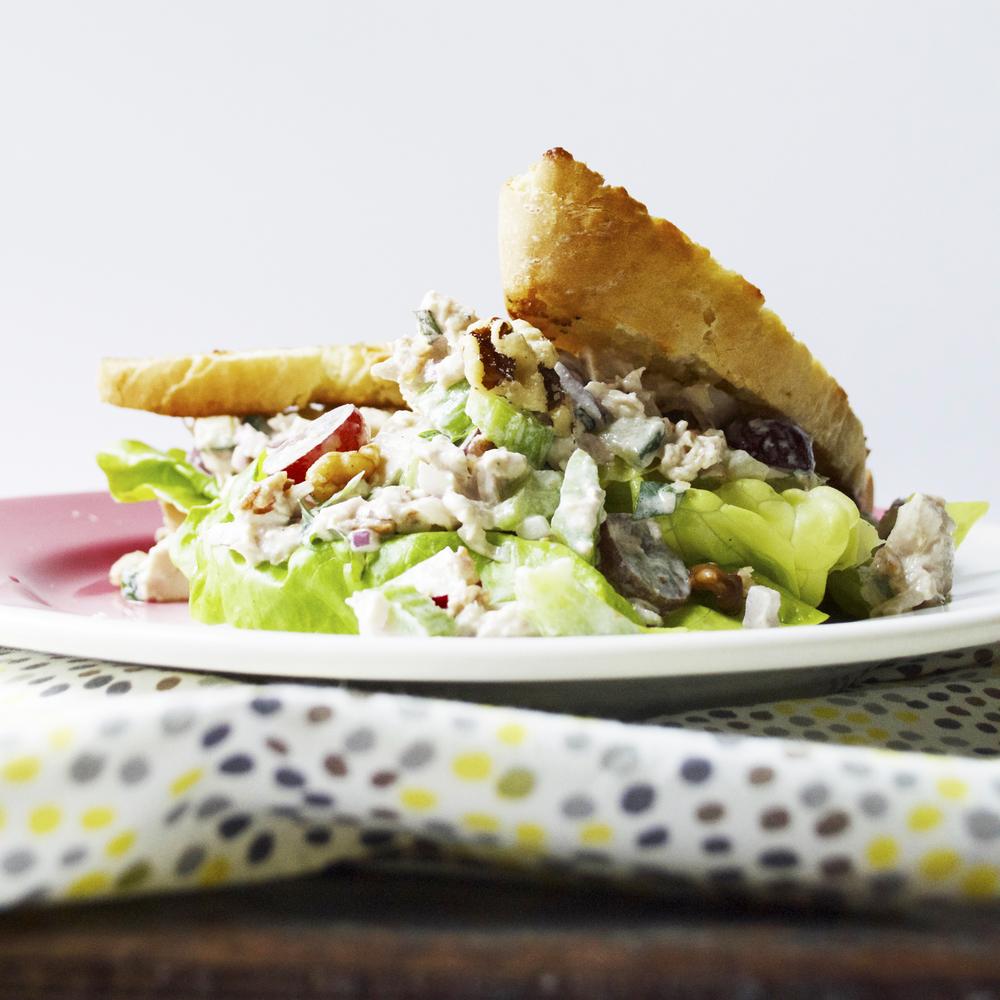 loaded chicken salad