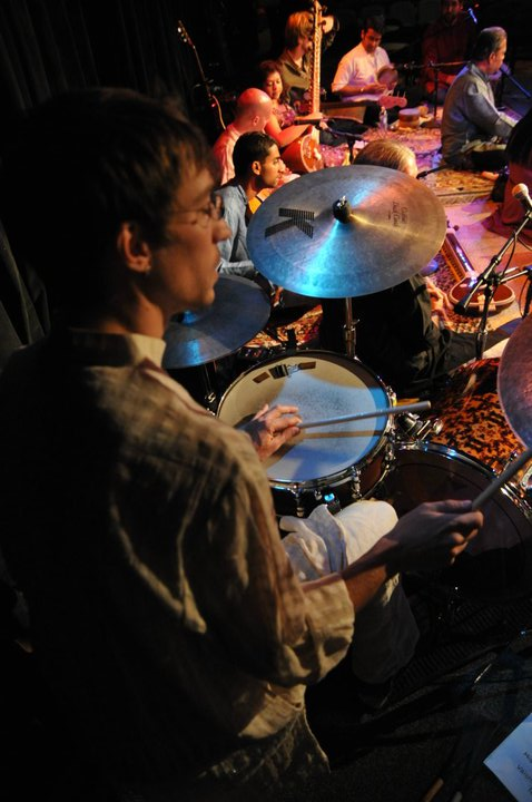 Sum Kali featuring Pandit Samar Saha at the Ark, Ann Arbor, MI, 2010  Photo credit: Cory Robinson