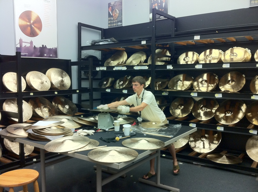 Visiting the Zildjian cymbal factory in Lowell, MA, 2011