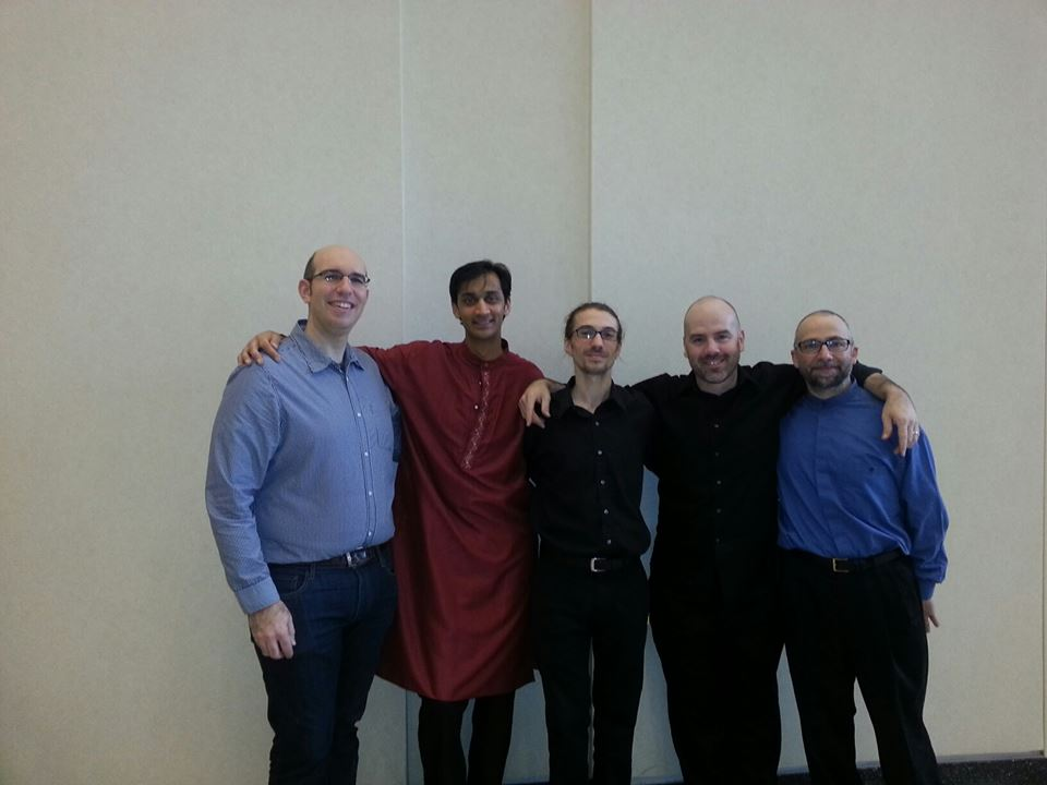 After PASIC 2013 Showcase Concert, with Shawn Mativetsky, Neeraj Mehta, Jonathan Ovalle, and Anthony DiSanza