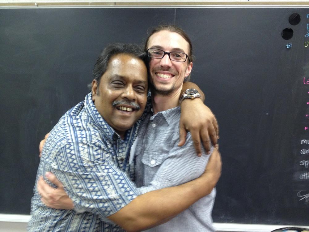 With Pandit Samar Saha, 2013