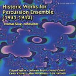 Historic Works for Percussion Ensemble  Thomas Siwe & U of M Percussion Ensemble Equilibrium