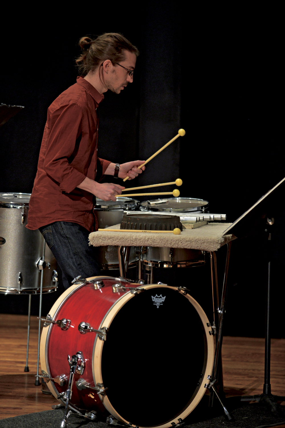 University of Michigan Graduate Percussion Ensemble performs Lang's  The So-Called Laws of Nature , 2014. Photo by Peter Smith
