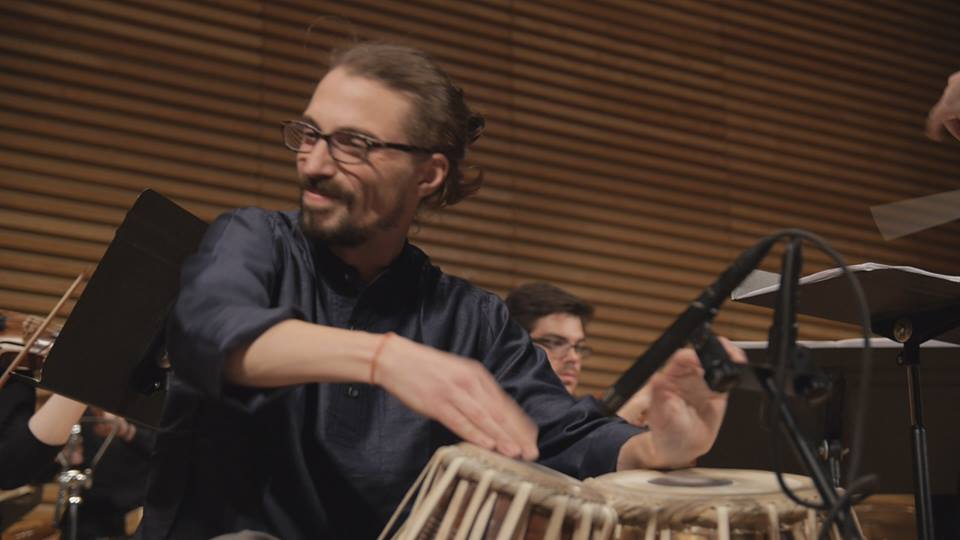 Performing Evan Ziporyn's  Mumbai  for tabla and orchestra, April 2015.