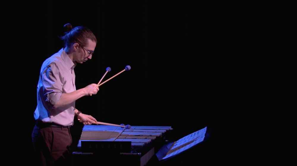 Dan performing Kristin Kuster's  Rain Chain , December 2014.