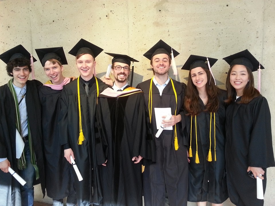 U of M Percussion graduating class of 2015!