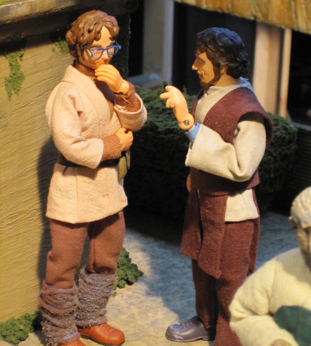 Here is the puppet-version of me conversing with the puppet-version of the animation director,  Savelen Forrest .