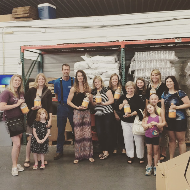 From left to right: Me; Michelle from  Simplify, Live, Love  and her daughter; our tour guide, Phil; Susie from  Flexitarian Filly ; Kristen from  Make the Best of Everything ; Kier from  Life in Iowa ; Patty from  Epicurean Explore r; Ally from  Ally's Sweet and Savory Eats ; Stephanie from  Been There, Baked That  and her daughters.