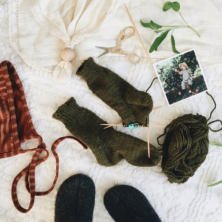 Easy Knit Baby Socks + Pattern — Under A Tin Roof™