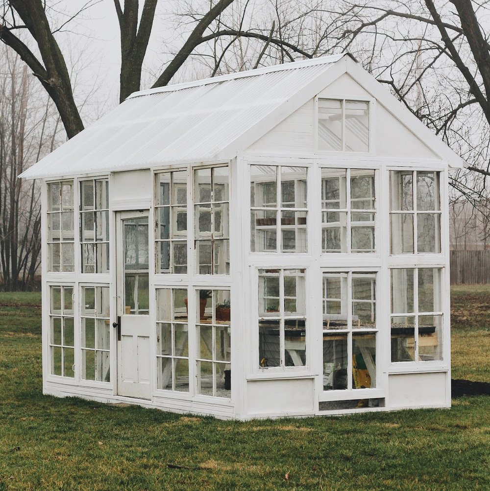 How We Built Our Greenhouse - Under A Tin Roof Blog