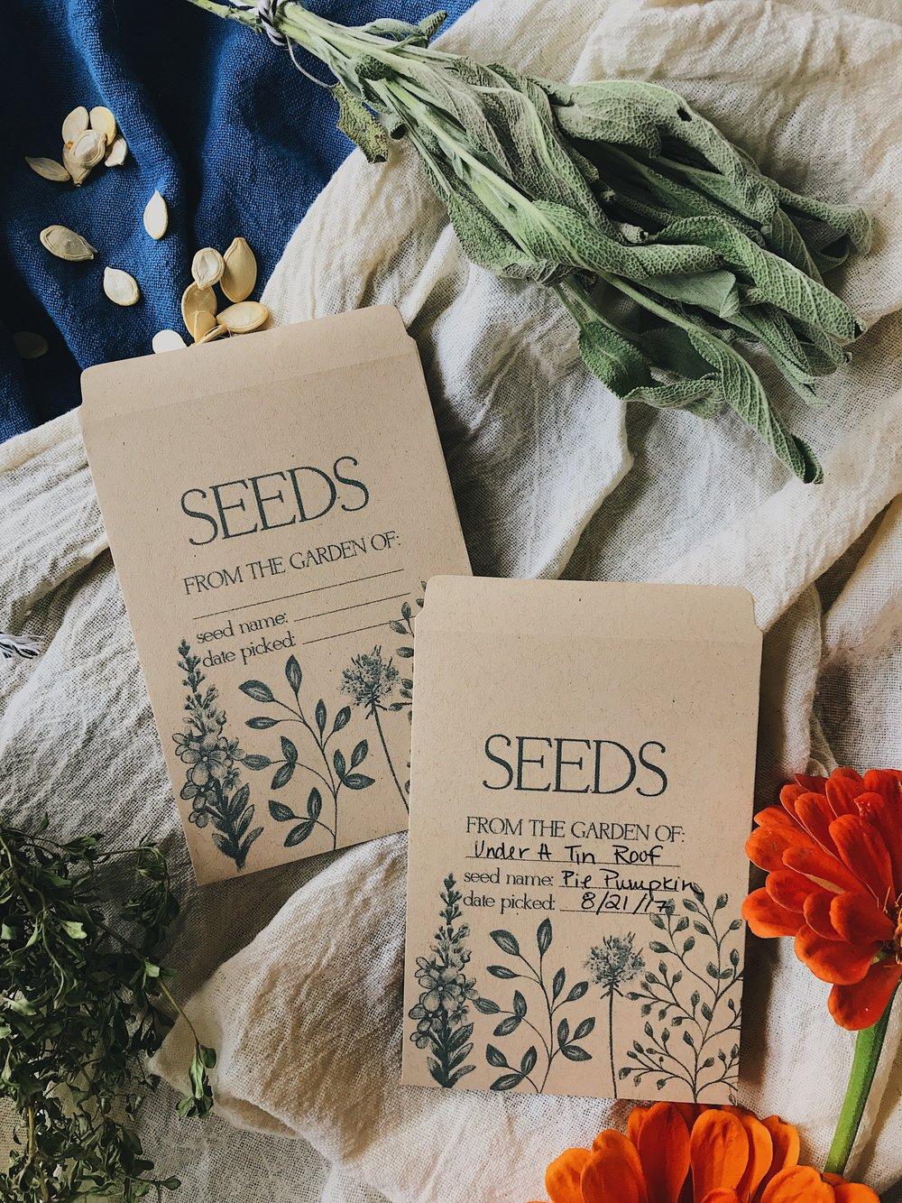 Saving Seeds + Free Digital Download