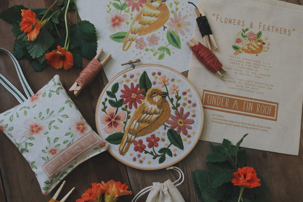UATR Embroidery Club | October Introduction - Under A Tin Roof Blog