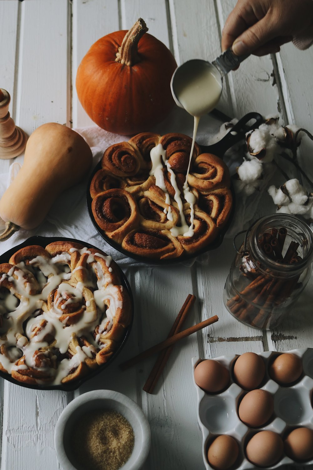 Colonial Kitchen | Cinnamon Rolls - Under A Tin Roof Blog