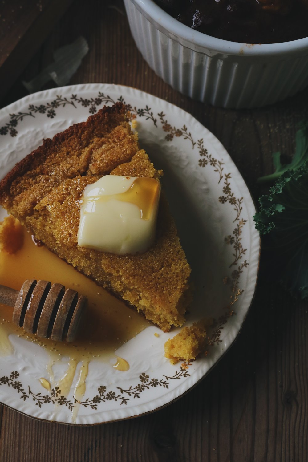 Colonial Kitchen | Skillet Cornbread - Under A Tin Roof Blog