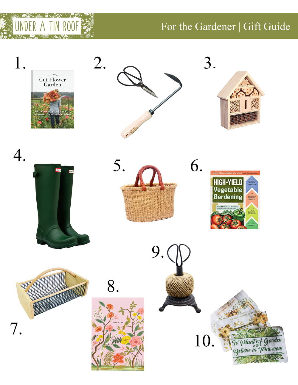 Gifts for the Gardener - Under A Tin Roof Blog