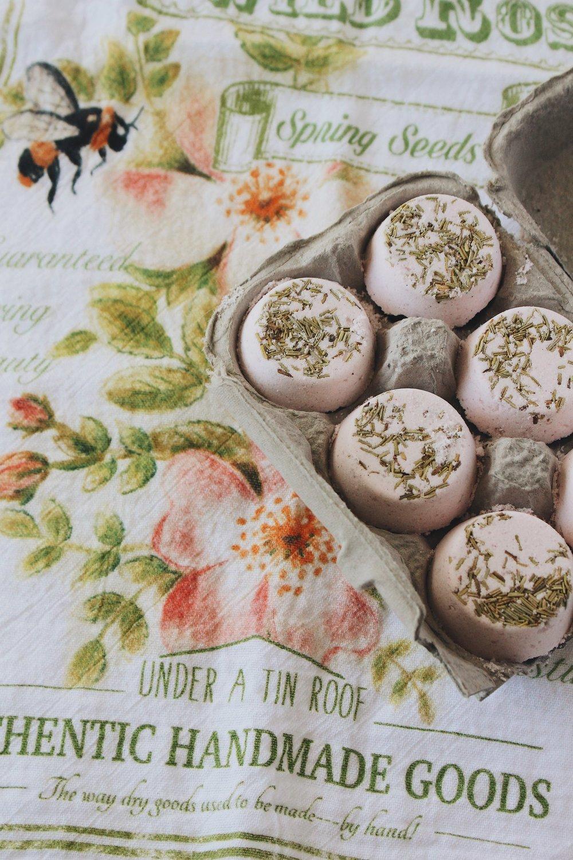 Himalayan Pink Salt + Rosemary Bath Bombs