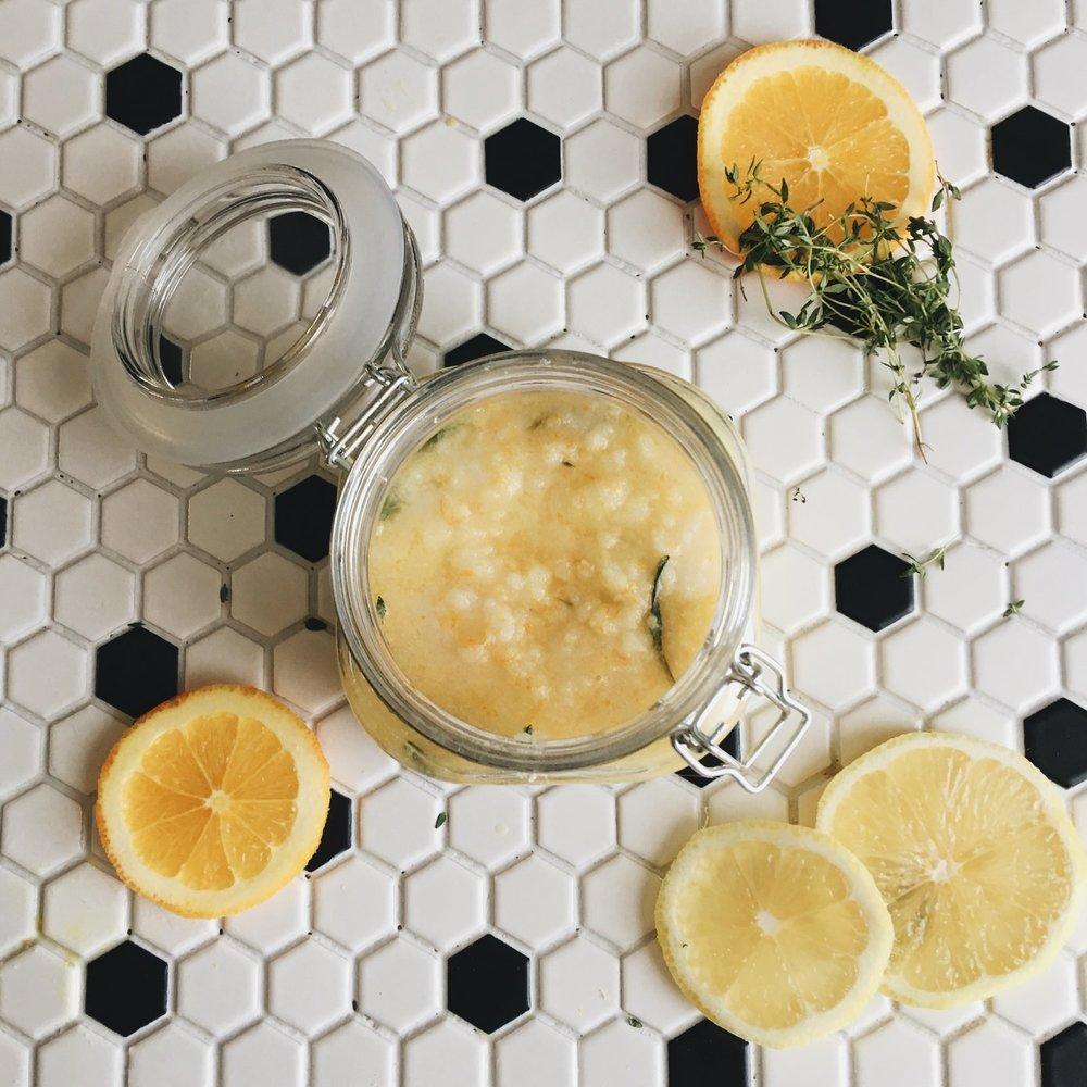 Lemon + Rosemary Gardener's Hand Scrub