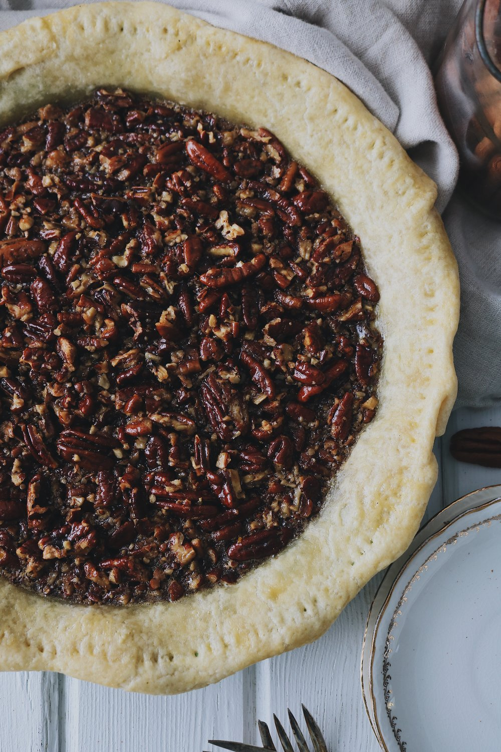 Colonial Kitchen | Pecan Pie - Under A Tin Roof Blog