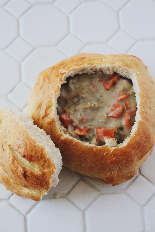 Clam Chowder + Bread Bowls