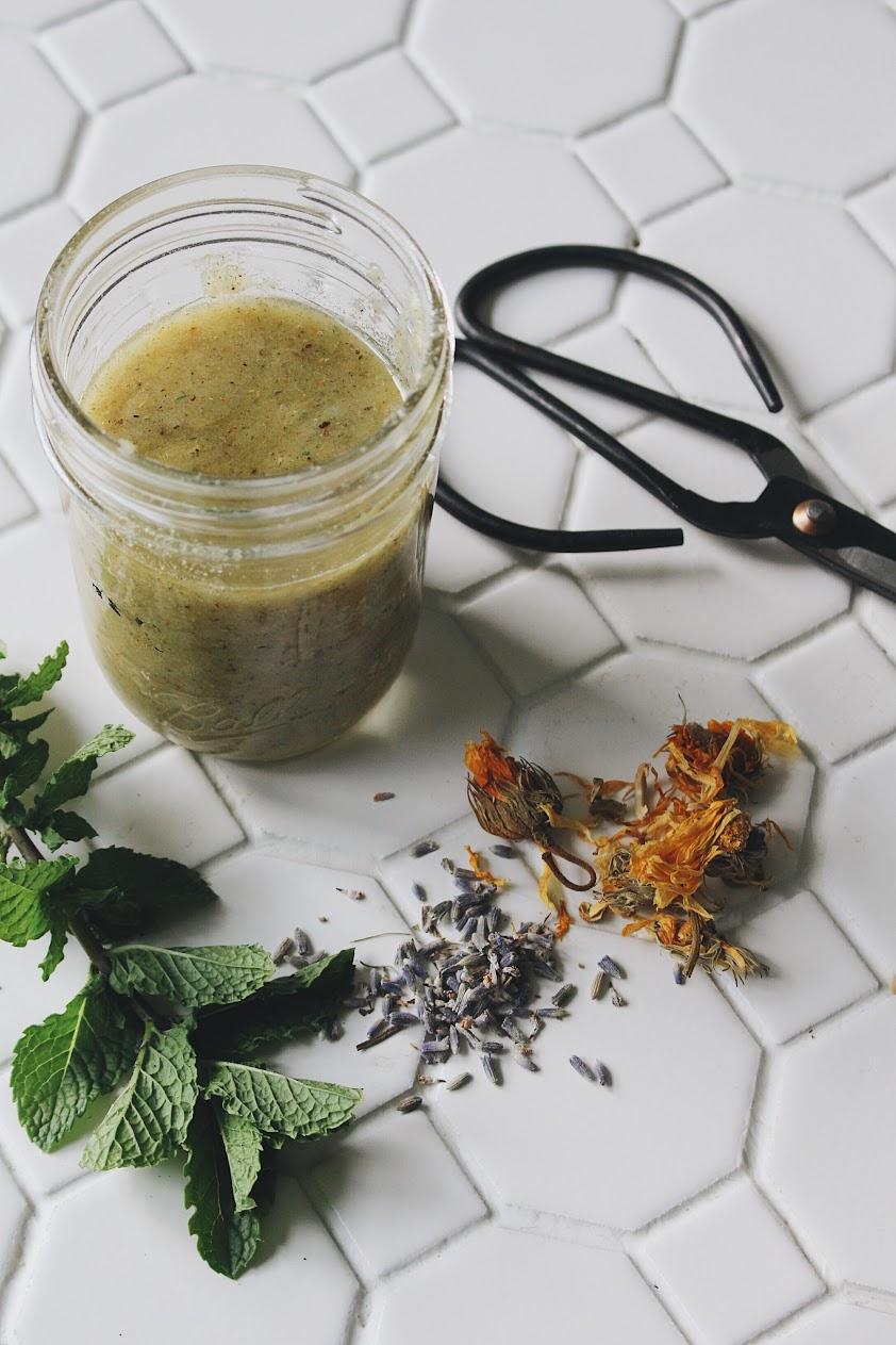 Lavender, Calendula, and Mint Foot Scrub
