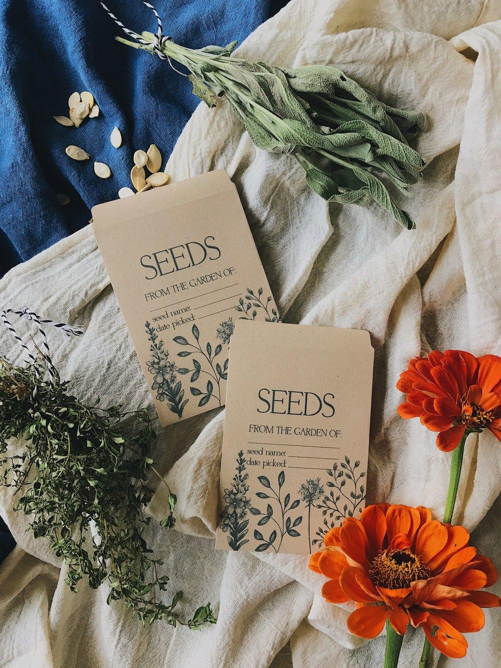 Saving Seeds + Free Seed Packet Printable!